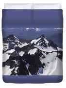 Rugged Mountain Peaks Duvet Cover