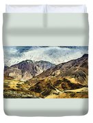 Rugged Mountains Of North India Duvet Cover