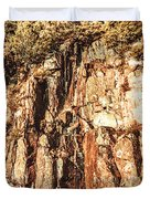 Rugged Vertical Cliff Face Duvet Cover