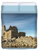 Ruined Stone Building At Occi In Corsica  Duvet Cover
