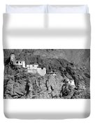 Ruins And Basgo Monastery Surrounded With Stones And Rocks Ladakh Duvet Cover