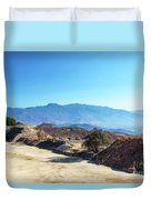 Ruins And Hills Duvet Cover