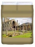 Ruins. Melrose Abbey. Duvet Cover