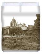 Ruins Of Carmel Mission Circa 1924 Duvet Cover