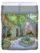 Ruins Of Chapel Sintra Duvet Cover