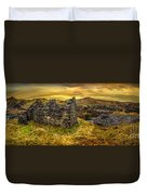 Ruins Of Snowdonia Panorama Duvet Cover