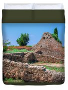 Ruins Of The Ancient City Of Side Duvet Cover