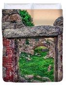 Ruins Of White's Factory - Doorways Duvet Cover