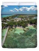 Rum Point Beach Panoramic Duvet Cover