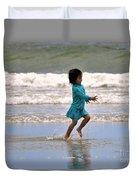 Run Splash Play Duvet Cover