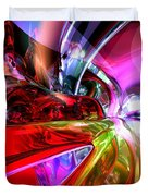 Runaway Color Abstract Duvet Cover by Alexander Butler