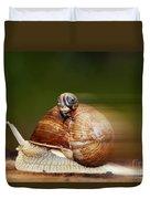 Runaway Snail Duvet Cover