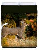 Running Buck Duvet Cover by Larry Ricker