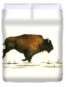 Running Buffalo Duvet Cover
