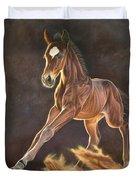 Running Foal Duvet Cover