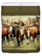 Running Free Horses IIi Duvet Cover
