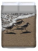 Running From The Water Duvet Cover