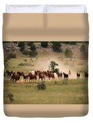 Running Herd Duvet Cover