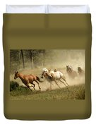 Running Horses Duvet Cover