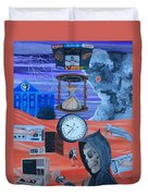 Running Out Of Time Duvet Cover