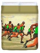 Running Start Duvet Cover
