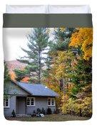 Rural Colorful Autumn Landscape 3 Duvet Cover