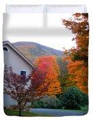 Rural Colorful Autumn Landscape 4 Duvet Cover