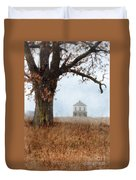 Rural Farmhouse And Large Tree Duvet Cover