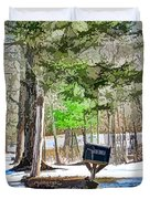 Rural Mailbox In The Snow 1 Duvet Cover