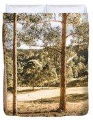 Rural Paddock In Australian Countryside Duvet Cover