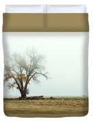 Rural Pasture And Tree Duvet Cover