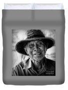 Rural Rice Farmer Duvet Cover