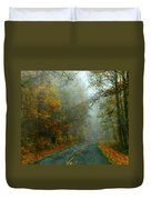 Rural Road In North Carolina With Autumn Colors Duvet Cover