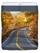 Rural Road Running Along The Maple Trees In Autumn 2 Duvet Cover