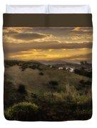 Rural Sunset In Spain Duvet Cover