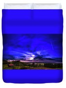 Rural Sunset Panorama Duvet Cover