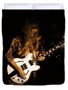Rush 77 #17 Enhanced In Amber Duvet Cover