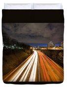 Rush Hour Light Trails Duvet Cover