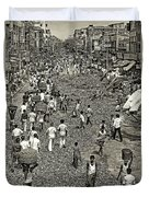 Rush Hour - Sepia Duvet Cover