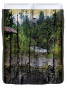 Rushing Cascade In The Andes - On Bark Duvet Cover