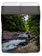 Rushing Falls In The Mountains Duvet Cover