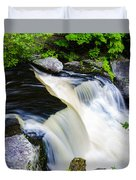 Rushing Water On A Mountain Stream Duvet Cover