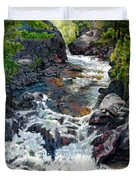 Rushing Waters Duvet Cover by John Lautermilch