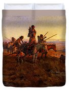 Russell Charles Marion In The Wake Of The Buffalo Hunters Duvet Cover
