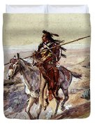 Russell Charles Marion Indian With Spear Duvet Cover