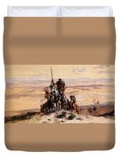 Russell Charles Marion Indians On Plains Duvet Cover