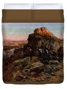 Russell Charles Marion Planning The Attack Duvet Cover