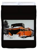 Russell Train Snow Plow Duvet Cover