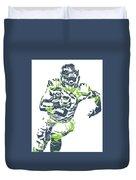 Russell Wilson Seattle Seahawks Pixel Art 12 Duvet Cover
