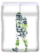Russell Wilson Seattle Seahawks Pixel Art T Shirt 1 Duvet Cover